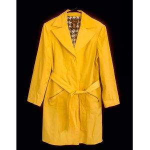 Bandolino Yellow Long Peacoat Size Large